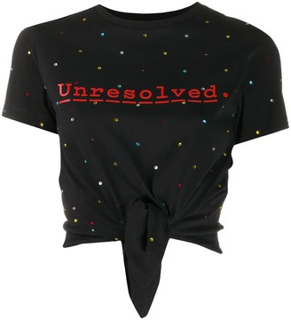 Paco Rabanne Unresolver rhinestone-embellished T-shirt