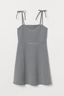 H&M Patterned Jersey Dress - Black