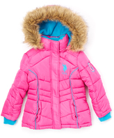 U.S. Polo Assn. Rose Violet Puffer Coat - Girls