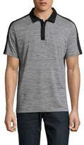 Calvin Klein Space-Dye Colorblock Polo Shirt