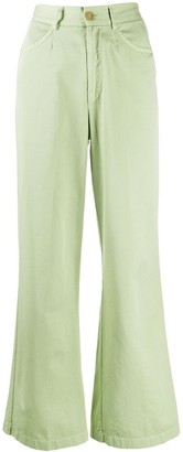 Forte Forte Wide-Leg Cropped Trousers