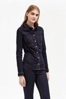 French Connection Indigo Snug Fit Denim Western Shirt