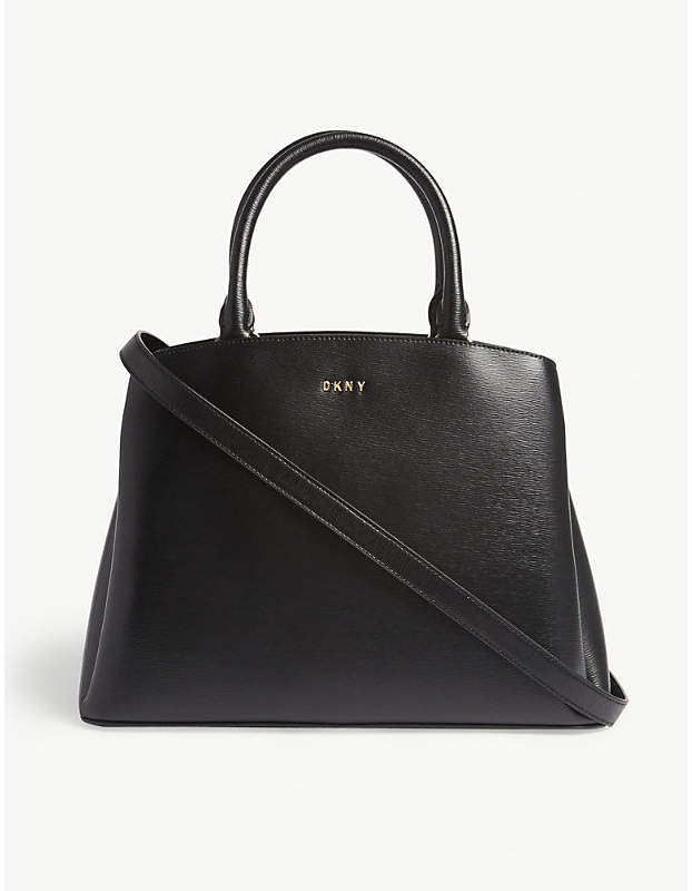 DKNY Paige large textured leather satchel