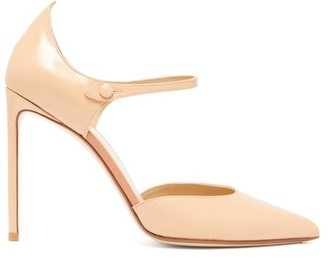 Francesco Russo Mary-jane Leather Stiletto Pumps - Nude