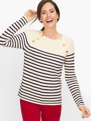 Talbots Pima Mariner Stripe Sweater