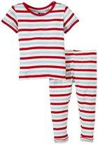 Kickee Pants Print Pajama Set (Baby) - Balloon Stripe-0-3 Months