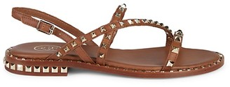 Ash Peace Studded Slingback Leather Sandals