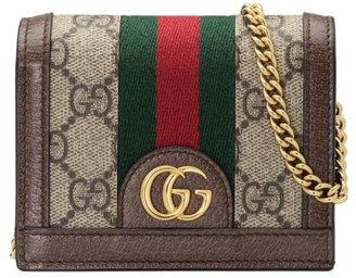 Gucci Ophidia GG Chain Card Case Wallet