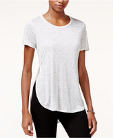 Bar III Space-Dyed High-Low T-Shirt, Created for Macy's