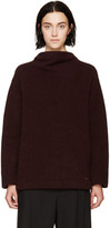 DSQUARED2 Burgundy Stand Collar Sweater