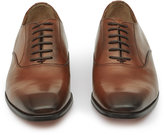 Reiss Reiss Fenton - Leather Oxford Shoes In Brown