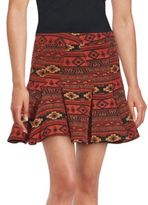 BCBGMAXAZRIA Printed Mini Skirt