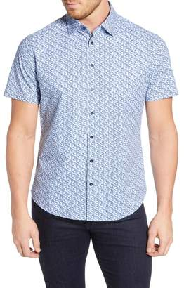 Stone Rose Regular Fit Geo Print Shirt