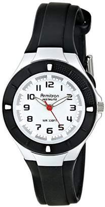 Armitron Sport Women's 25/6416BLK Easy-to-Read Dial Resin Strap Watch