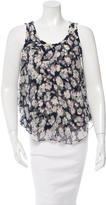 Nina Ricci Silk Floral Print Top