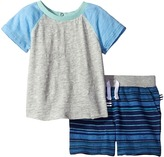 Splendid Littles Raglan Shorts Set with Striped Shorts Boy's Active Sets