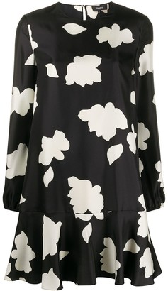 Theory petal print flared dress