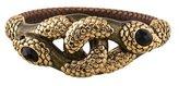 Roberto Cavalli Dual Serpent Embellished Bangle Bracelet w/ Tags