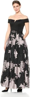 Brinker & Eliza Women's Off-The-Shoulder Floral Gown