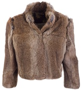MATTHEW WILLIAMSON - Embellished cropped fur jacket
