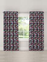 Skyline Furniture Coastal Print Unlined Linen Curtain