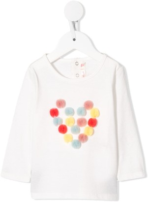 Billieblush heart pom-pom long-sleeve top