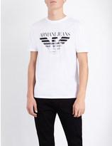 Armani Jeans Eagle City stretch-cotton t-shirt