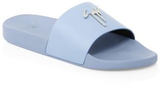 Giuseppe Zanotti Logo Leather Slides