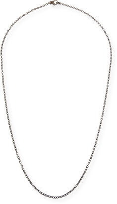 Margo Morrison Rhodium-Plated Sterling Silver Chain Necklace with Diamond Clasp, 36""
