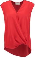 3.1 Phillip Lim Wrap-effect silk crepe de chine blouse