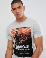 Barbour International Climb Tshirt In Grey Marl