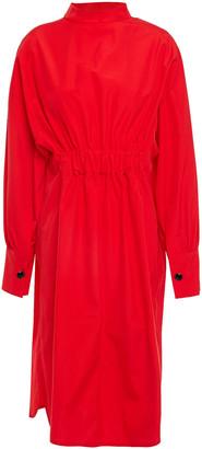 Marni Gathered Cotton-poplin Dress