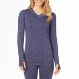 Cuddl Duds Flex Fit Long-Sleeve V-Neck Shirt