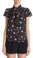 Marc Jacobs Silk Floral-Print Blouse