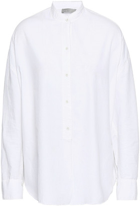 Vince Cotton And Silk-blend Shirt