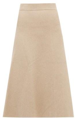 Altuzarra Callaway Rib-knitted Midi Skirt - Beige