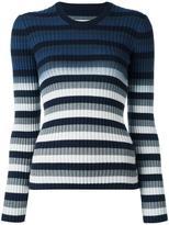 Maison Margiela striped ombré knitted jumper - women - Cotton - M