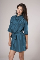 Corey Lynn Calter Margot Tab Collar Shirt in Lapis