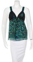 Tibi Sleeveless Paisley Top