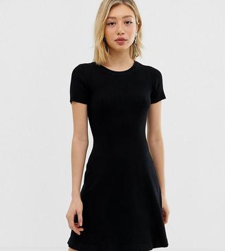Noisy May Petite knitted rib skater dress