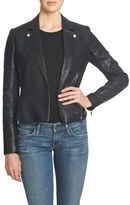 1 STATE 1.State Faux Leather Moto Jacket