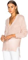 Dion Lee V Neck Sweater in Pink.