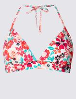 M&S Collection Floral Print Triangle Bikini Top