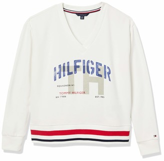 Tommy Hilfiger Women's Adaptive Pullover Sweatshirt with Wide Neck Opening