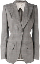Wunderkind checked blazer - women - Cotton/Polyamide/Cupro/Virgin Wool - 36