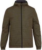 Prada Hooded checked reversible jacket