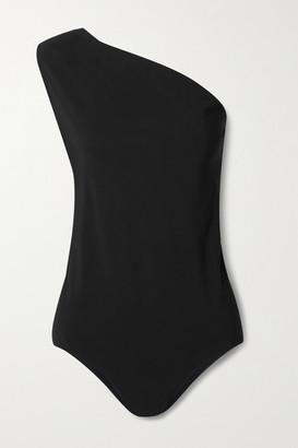 Bottega Veneta Cutout One-shoulder Swimsuit - Black