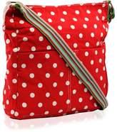 Kukubird Small Polka Dots Crossbody Bag - Red