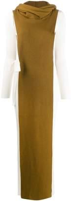 Missoni layered knit hooded dress