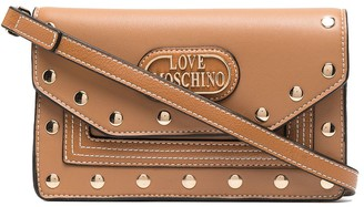 Love Moschino Scarf Detail Studded Crossbody Bag